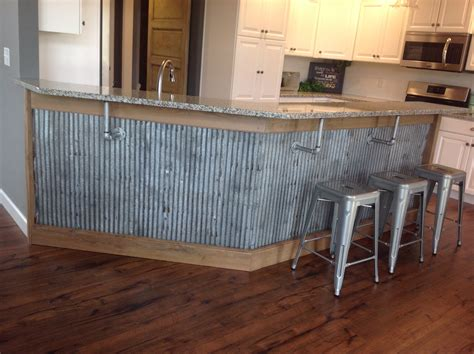 Tin Roof Kitchen by Reclaimed Barn Tin Roofing Used As Wanescoting A Bar