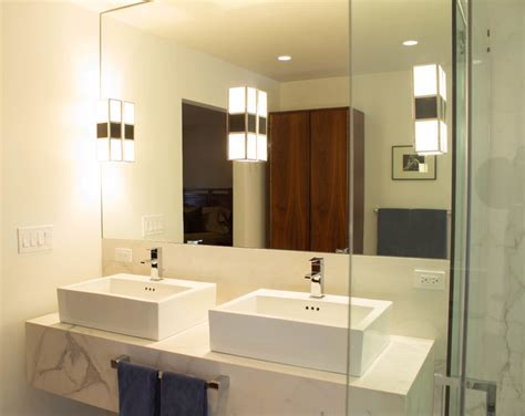 mid century modern master bathroom westside mid century modern house master bathroom vessel sinks modern bathroom