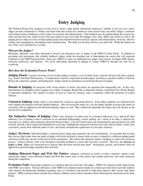 Process Paper - rule book nhd 2012