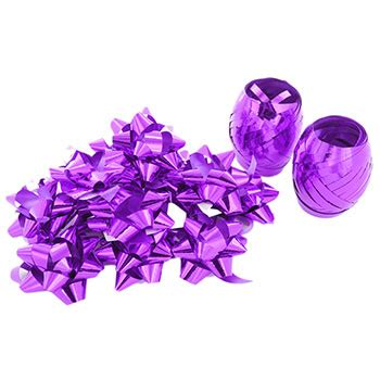 purple curling ribbons and bows pack of 14 christmas