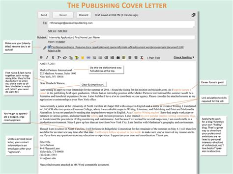 Email Cover Letter The Nuances Of Applying By Email Book Boot C Week 2 Publishing Trendsetter