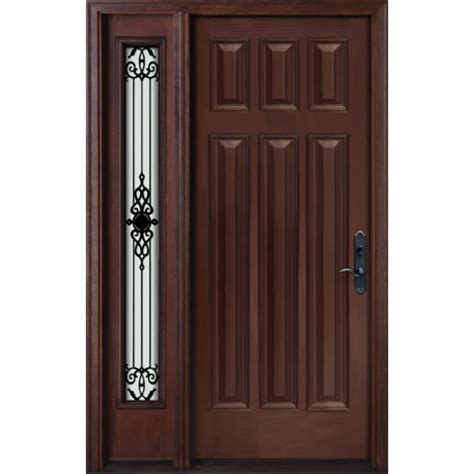 exterior fiberglass door single door with one panel glass