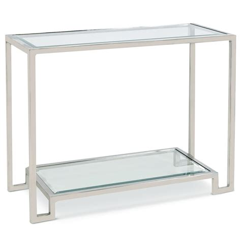 Silver Console Table Hutton Regency Glass Silver Console Table Kathy Kuo Home