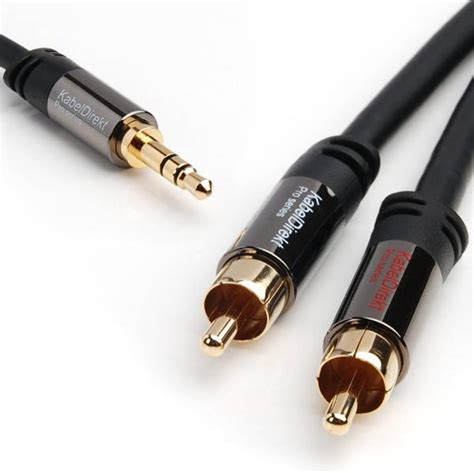 Kabel Hifi Rca To 2 Rca Audio 24k Gold Plated 3mtr Limited rca to 3 5 mm 3 5 mm to rca cable y cable