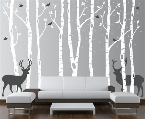 Chandelier Wall Decal Target Birch Tree Winter Forest Vinyl Wall Decal