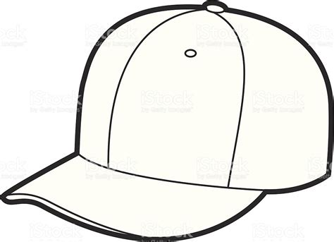 hat outline template hat outline stock vector 165026332 istock