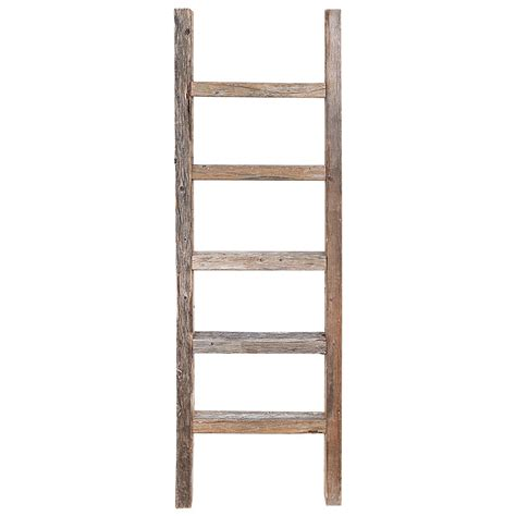 Decorative Wooden Ladder decorative ladder reclaimed wooden ladder 4 foot rustic