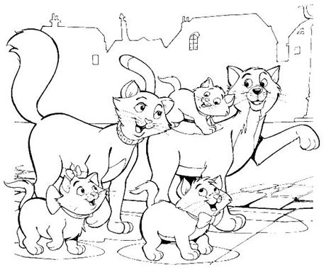 cat family coloring page 20 best images about coloriages les aristochats on