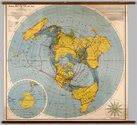 flat earth maps