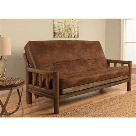 western futon lodge size futon set rustic walnut futon mattress log