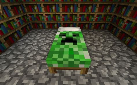 how to place a bed in minecraft creeper bed minecraft texture pack