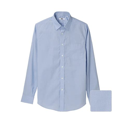 Uniqlo Formal Shirt uniqlo cotton slim fit stripe sleeve shirt a in blue for lyst