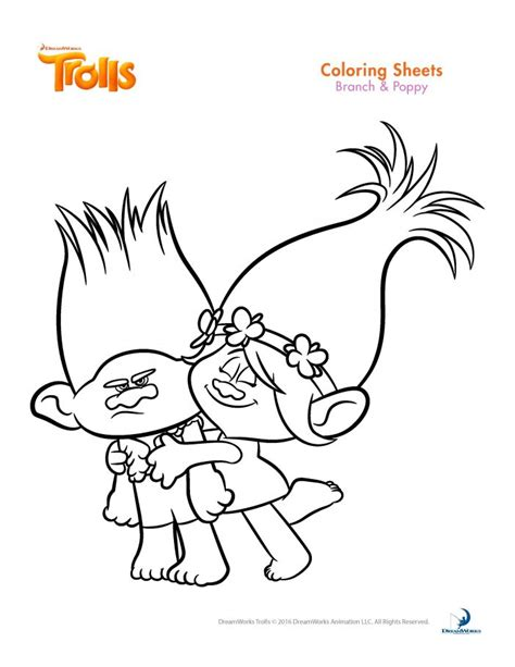 Princess Poppy Trolls Movie Coloring Coloring Pages Princess Poppy Coloring Page Free Coloring Sheets
