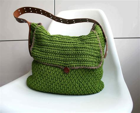 crochet bag written pattern upcycled belt crochet bag purse pattern by luz patterns