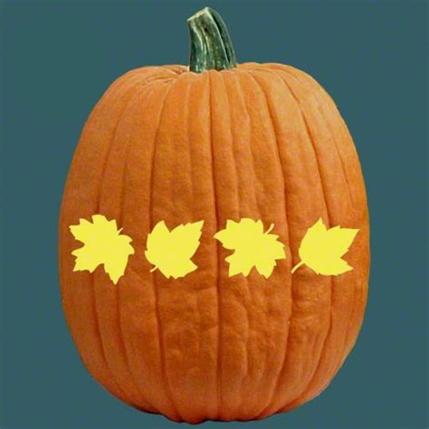 leaf pattern for pumpkin carving pumpkins autumn and free stencils on pinterest