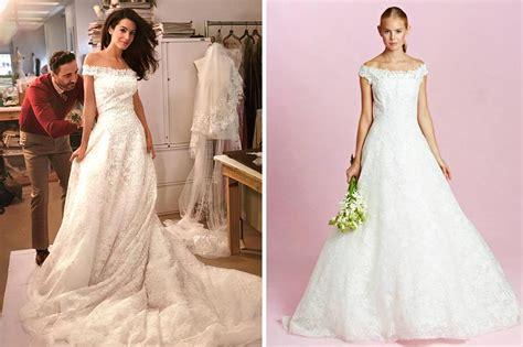 Amal Clooney Oscar De La Renta Wedding Dress Copy
