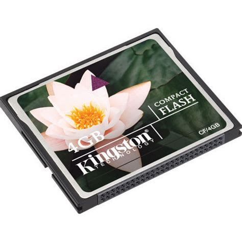 kingston 4gb compact flash memory card cf 4gb b h photo