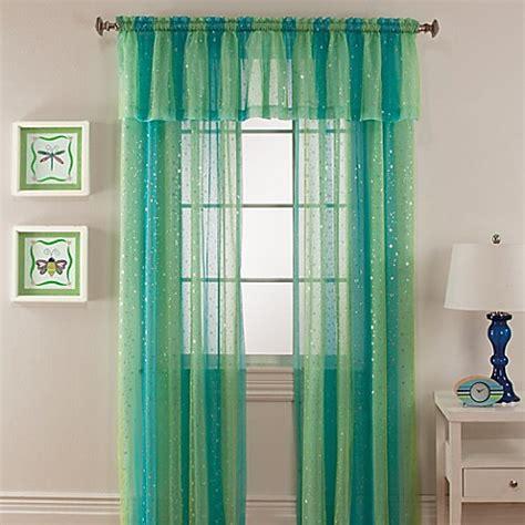 mermaid curtains mermaid rod pocket window curtain panel bed bath beyond
