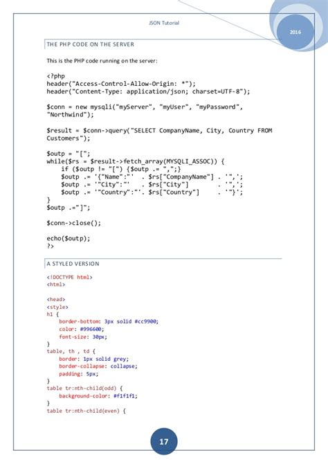 tutorial json php mysql json tutorial a beguiner guide