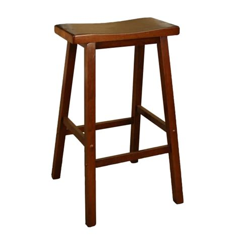 K D Furniture Bar Stools by Wood Saddle Walnut