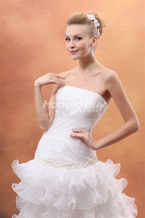 chiffon hairstyles strapless chiffon layer 2012 style wedding dress