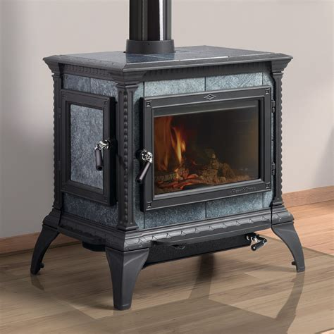 soapstone fireplace inserts hearthstone s quot heritage quot soapstone wood stove shown with
