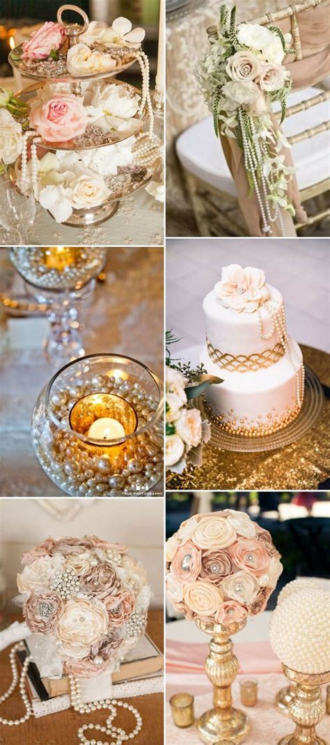 best 25 pearl wedding decorations ideas on