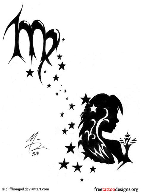 virgo tribal tattoo virgo tribal designs