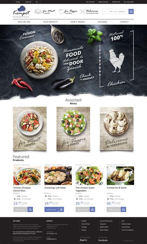 web layout behance homemade food in z 252 rich on behance