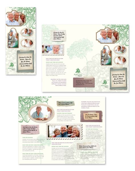 home health care brochure templates home care tri fold brochure template
