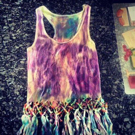 how to bead a shirt tie dye beaded fringe shirt i made my style