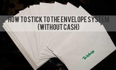 stick   envelope system  cash