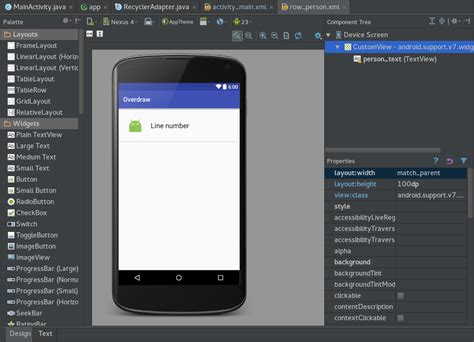 android layout namespace android studio layout preview android dev br medium