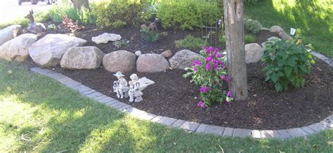 Landscape Edging With Boulders Landscape Edging Plymouth Mn And Delano Minnesota