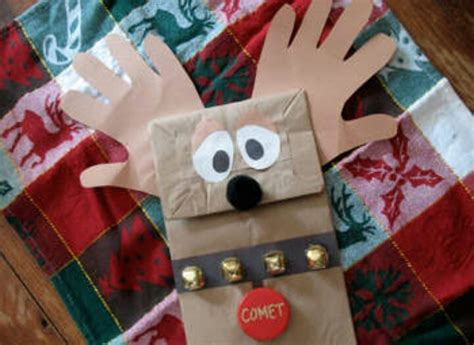paper bag reindeer craft pin by sacha brown on crafts for prek and k