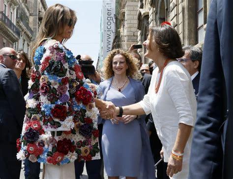 melania wears 68k dolce gabbana jacket in sicily