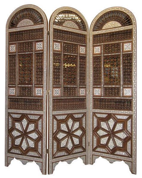 moroccan room divider middle eastern moroccan inlaid wooden screen room divider