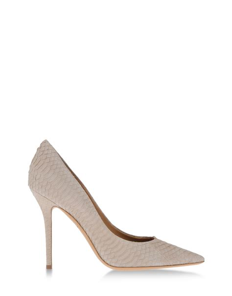 Light Grey Heels by Ferragamo Pumps In Beige Light Grey Lyst