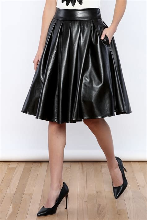 20609 Black S M Sale Leather Skirt gracia faux leather skirt from alabama by lifted boutique shoptiques