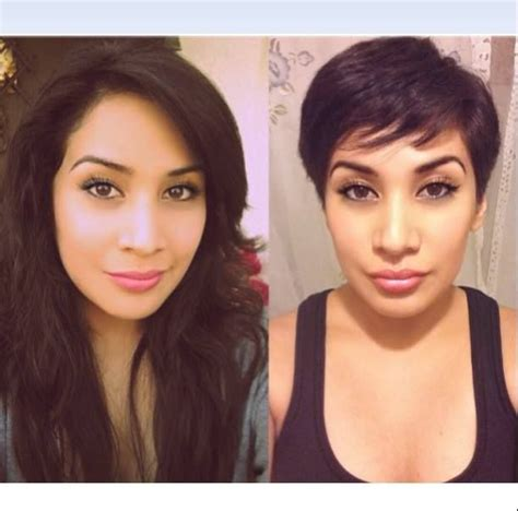 long hair to pixie cut before and after 279 best images about haircuts and color before and after