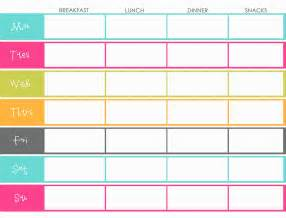 daily menu planner template meal planning research phase journey to onederland