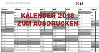 Kalender 2018 Nrw Zum Ausdrucken Kalender 2018 Zum Ausdrucken Freeware De
