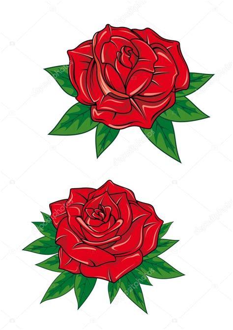 imagenes rosas animadas dibujos animados de rosas rojas flor con hojas archivo