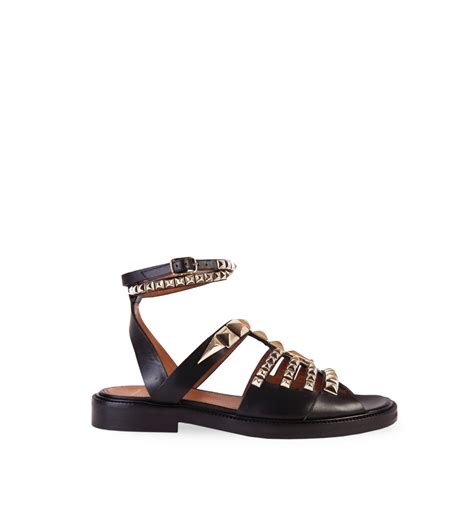 Vnc Studded Flat Sandals givenchy flat studded sandals in black lyst