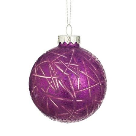 glass bauble purple christmas tree decorations ornaments