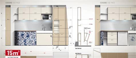 Plan Studio 12m2 by D 233 Co Chambre 15m2