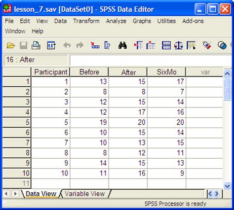 spss tutorial anova with repeated measures lesson seven