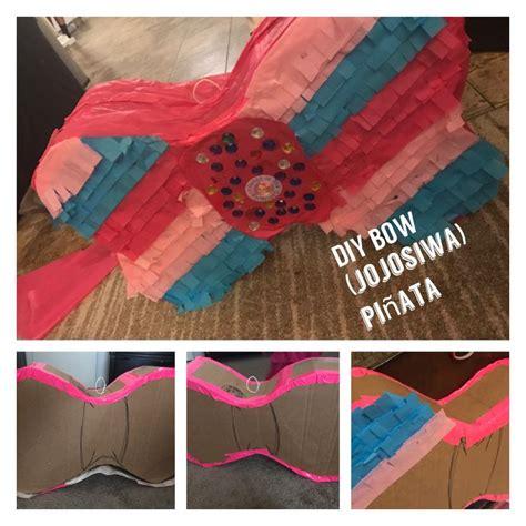 jojo siwa bow pinata diy cardboardduct tapetissue paper aubrey   birthday pinata