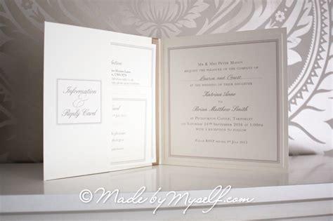 castle wedding invitations peckforton castle pocketfold wedding invitation includes rsvp guest information