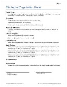 Minutes Of Meeting Template by Meeting Minutes Template Cv Templates